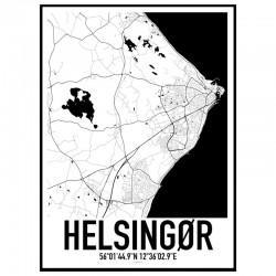 Helsingør Map Poster