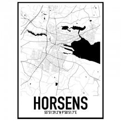 Horsens Map Poster