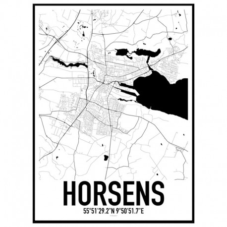 Horsens Map Poster Find your posters at Wallstars Online Shop today