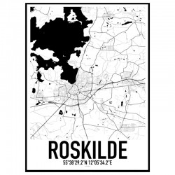 Roskilde Map Poster