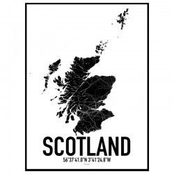 Scotland Map Poster