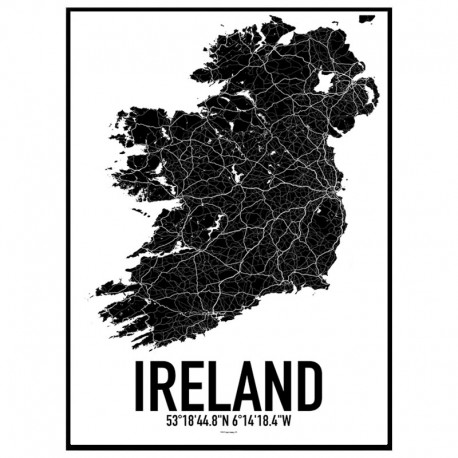 Map Of Ireland Poster.Ireland Map Poster Find Your Posters At Wallstars Online Shop Today