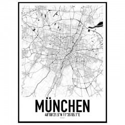 München Map Poster