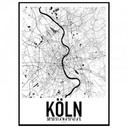Köln Map Poster