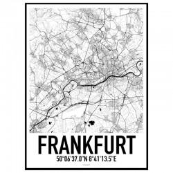 Frankfurt Map Poster