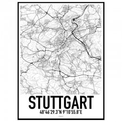 Stuttgart Map Poster