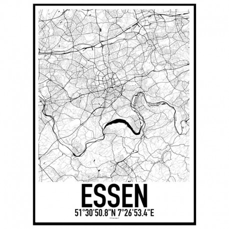 Essen Map Poster Find your posters at Wallstars Online Shop today