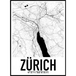 Zürich Map Poster