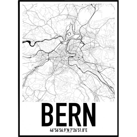 Bern Map Poster Find your posters at Wallstars Online Shop today