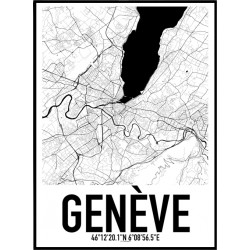 Genève Map Poster