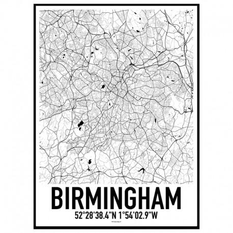 Birmingham Map Poster
