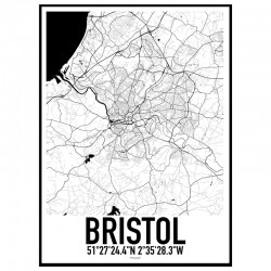 Bristol Map Poster