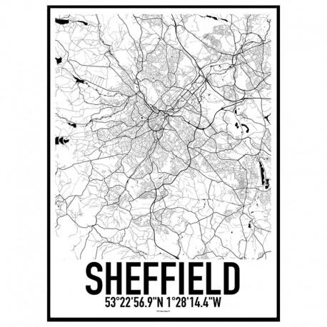 Sheffield Map Poster