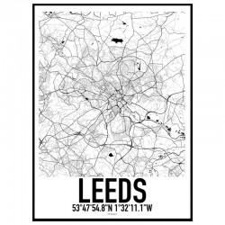 Leeds Map Poster