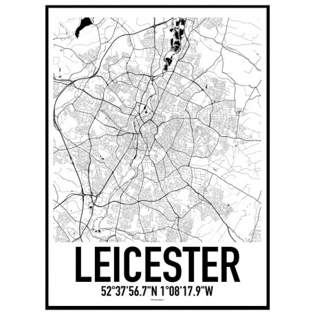 Leicester Map Poster