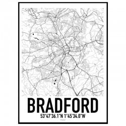 Bradford Map Poster