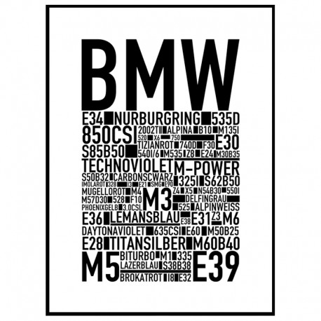 bmw poster find your posters at wallstars online shop today. Black Bedroom Furniture Sets. Home Design Ideas