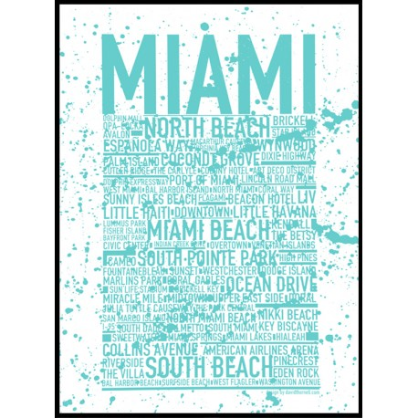 Miami Mint Poster
