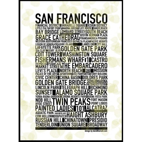 SF Leaves Poster