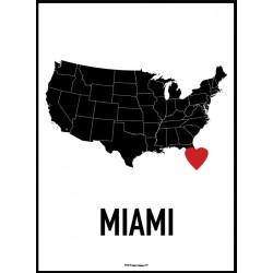 Miami Heart Poster