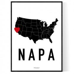 Napa Heart Poster