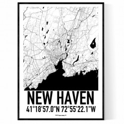 New Haven Map Poster