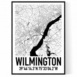 Wilmington DE Map Poster