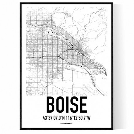 Boise Map Poster