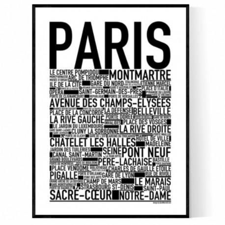 paris poster find your posters at wallstars online shop today. Black Bedroom Furniture Sets. Home Design Ideas