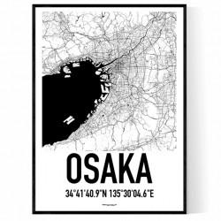 Osaka Map Poster