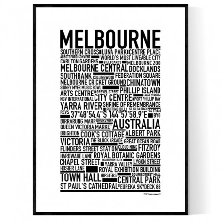 Melbourne Poster