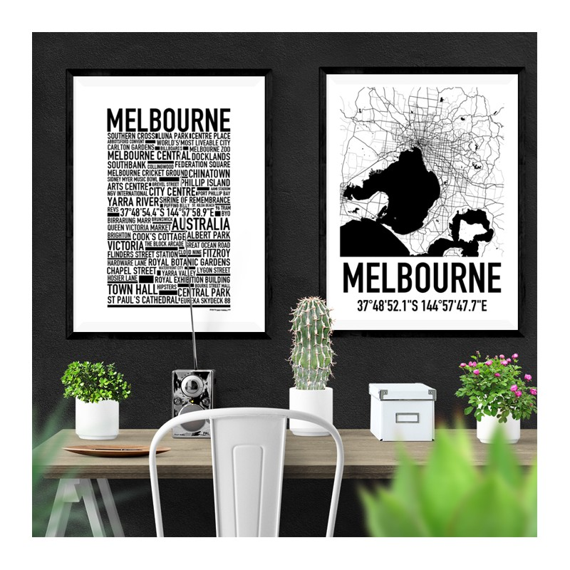 Melbourne map find your posters at wallstars online shop today melbourne map melbourne map gumiabroncs Gallery