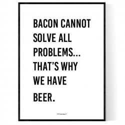 Bacon & Beer Poster