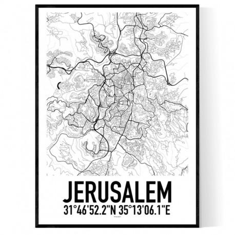 Jerusalem Karta Poster