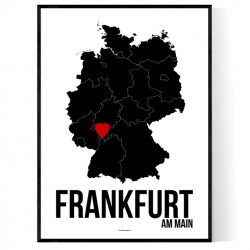 Frankfurt Heart Poster