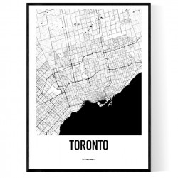 Toronto Metro Map Poster