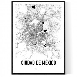 Mexico City Metro Map Poster