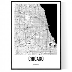 Chicago Metro Map Poster