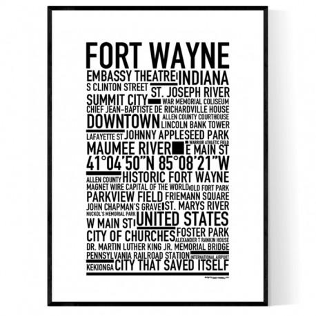 Fort Wayne Poster