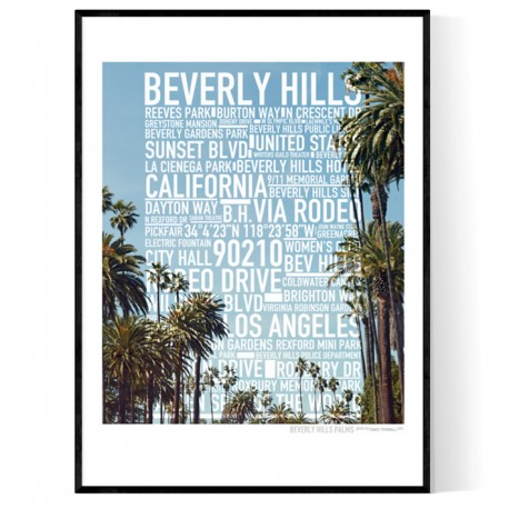 Beverly Hills Photo Text Poster