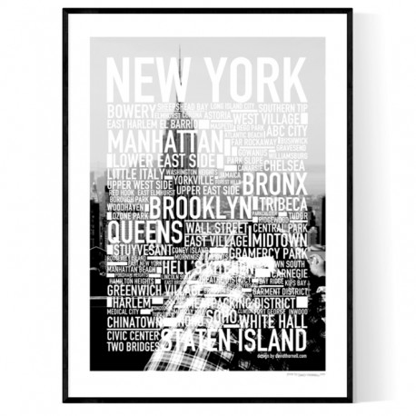 New York Photo Text Poster