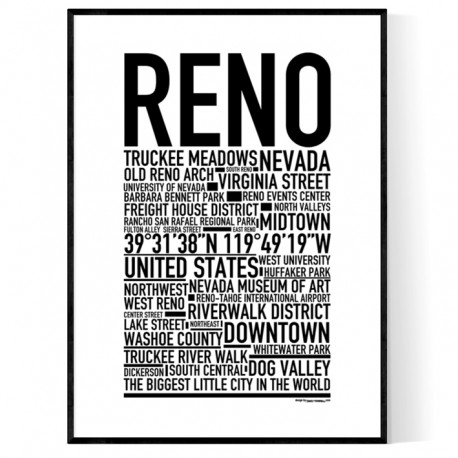 pretty nice c3f14 65ef9 Reno Poster. Find your posters at Wallstars Online. Shop today!