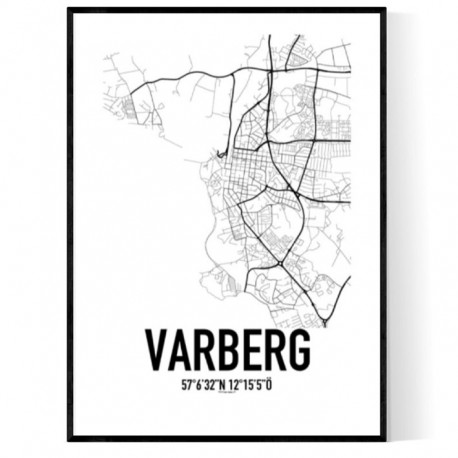 Varberg Map Poster