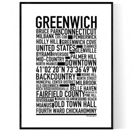 Greenwich CT Poster
