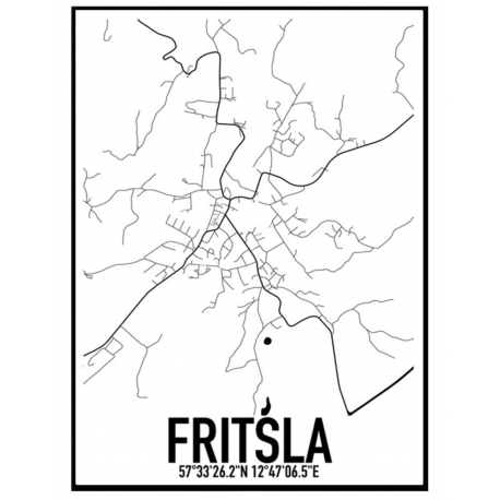 Fritsla Map Poster
