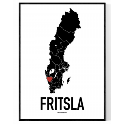 Fritsla Heart Poster
