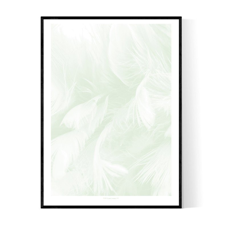 Abstract Green Feathers
