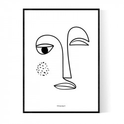 Wink Face Poster