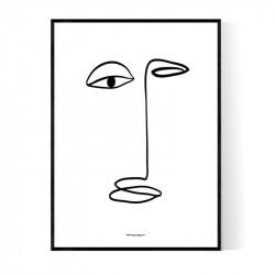 Long Face Poster