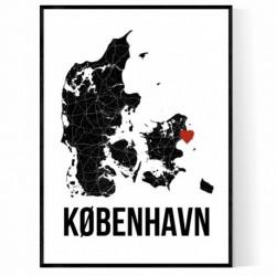 Copenhagen Heart Poster